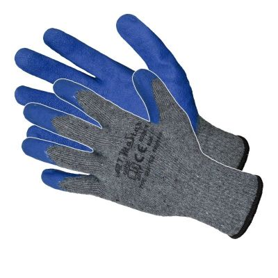 Manusi Latex Tricotate Albastre / L[mm]: 270 Pl