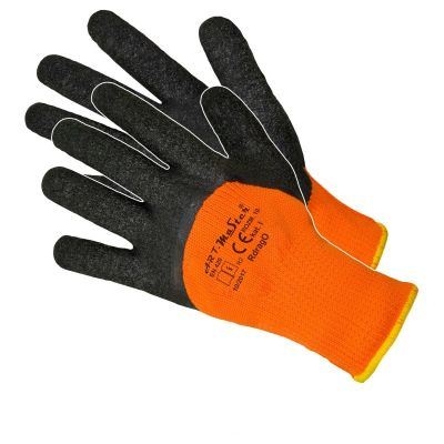 Manusi Latex Tricotate Orange de Iarna 11