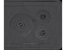 Plita Fonta 3O cu Rama / L[mm]: 720; B[mm]: 625 S-C-5R soky