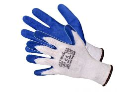 Manusi Latex Tricotate Albastru-Alb / L[mm]: 270 sok pl