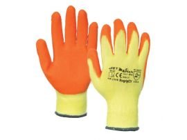 Manusi Latex Tricotate Orange-Galben / L[mm]: 270 sok pl