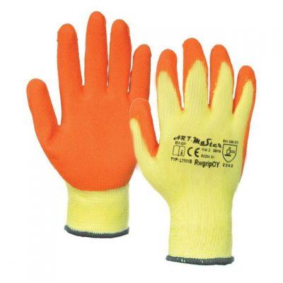 Manusi Latex Tricotate Orange-Galben / L[mm]: 270 Pl