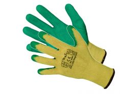 Manusi Latex Tricotate Verde-Galben / L[mm]: 275 Pl