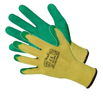 Manusi Latex Tricotate Verde-Galben / L[mm]: 275 Pl