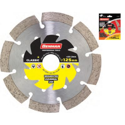 Disc Diamantat Universal (Uscat) 125X2.4mm Benman