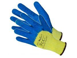 Manusi Latex Tricotate Albastre Dublu 11