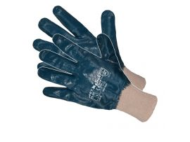 Manusi Nitril Latex Alb-Albastru 10' Sok