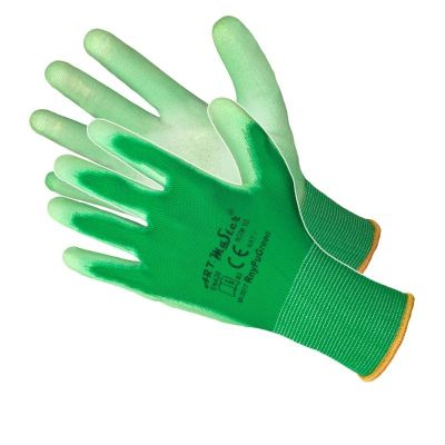 Manusi Poliuretan Tricotate Verde 9