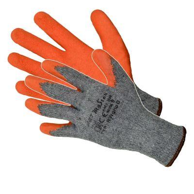 Manusi Latex Tricotate Orange-Gri/ L[mm]: 275 Pl