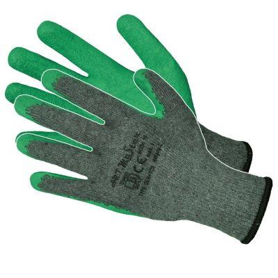 Manusi Latex Tricotate Verde-Gri/ L[mm]: 250 Pl
