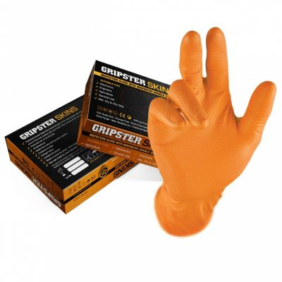 Manusi Unica Folosinta Gripster Orange L (10 buc/pg) Pl