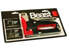 Capsator pt Lemn cu 3 Functii/g[mm]:1.2 profi+capse1000buc-Beast
