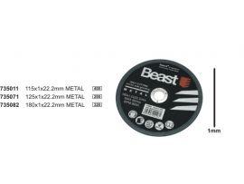 Disc Abraziv 115X3 Beast